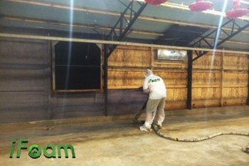 spray foam barn insulation