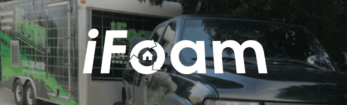 ifoam logo with image as background