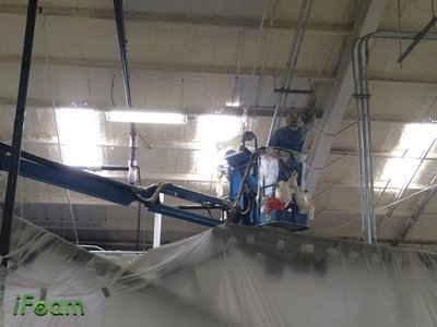spray foam metal barn insulation